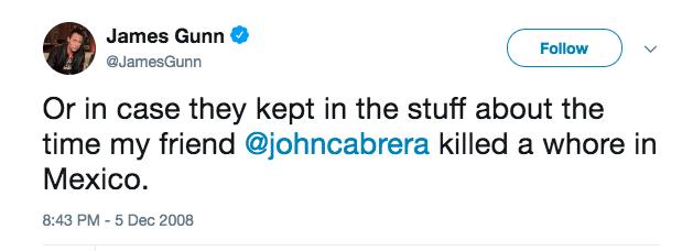 James Gunn Update: UPDATE: Disney Fires James Gunn Over Problematic Tweets