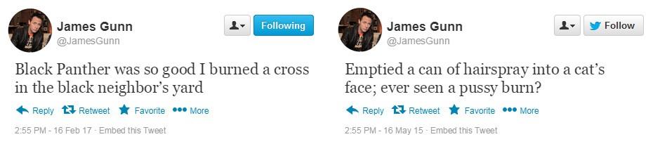 Fake Gunn Tweets