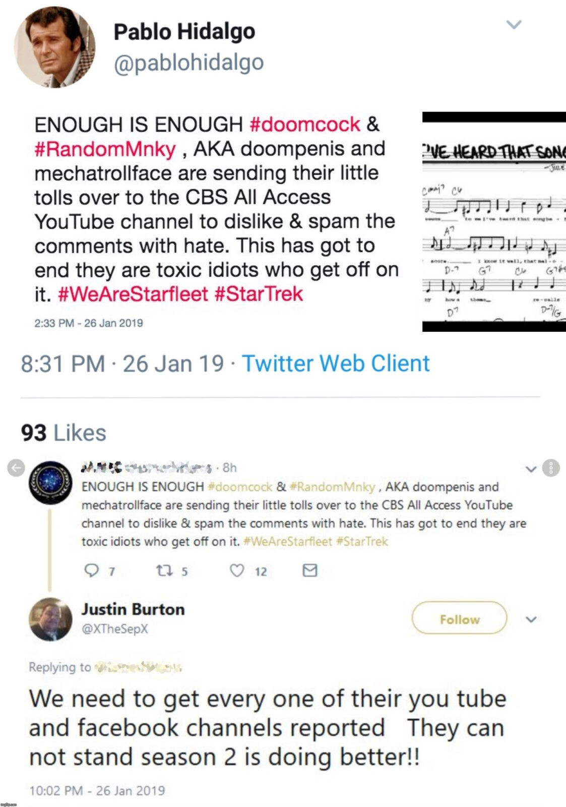 Fandom Menace' Youtuber Targeted by Star Trek Actor's Son