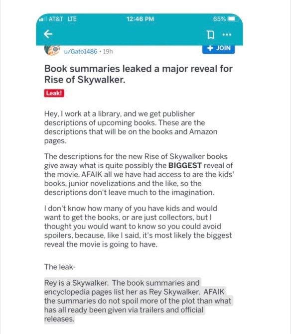 Star Wars Rumors: Has Rey Been Revealed as a Skywalker