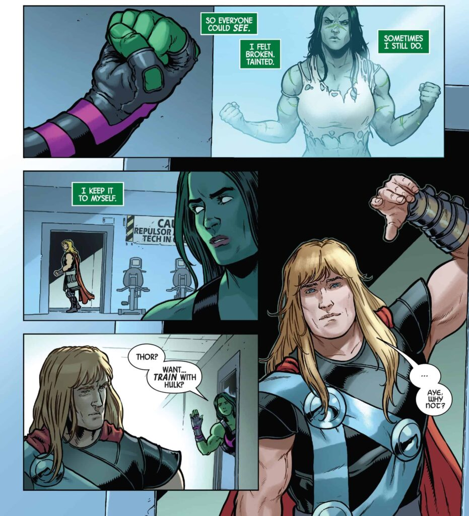 She-Hulk invites thor to work out