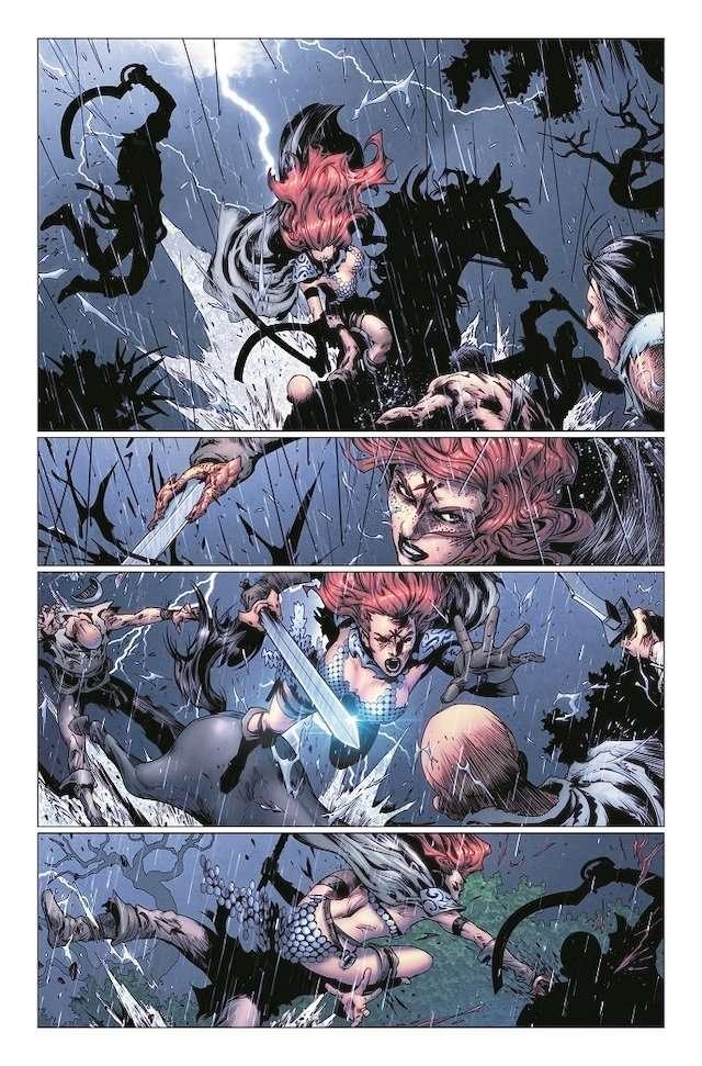 Red Sonja combat